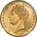 Great Britain, Great Britain: George IV gold Proof 1/2 Sovereign 1826 PR63 Cameo NGC,...