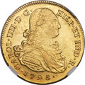 Colombia, Colombia: Charles IV gold 8 Escudos 1798 P-JF AU58 NGC,...