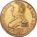 Argentina, Argentina: Republic Rosas gold 8 Escudos 1842-R XF Details (SurfaceHairlines) NGC,...