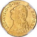 France: Louis XVI gold 2 Louis d'Or 1786-I MS64 NGC