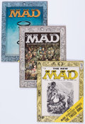Magazines:Mad, MAD #25, 27, and 28 Group (EC, 1955) Condition: Average VG....(Total: 3 Comic Books)