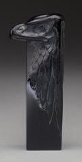 Art Glass:Lalique, R. Lalique Black Glass Tete D'Aigle Seal. Circa 1911.Engraved R. Lalique France No. 175. M p. 248, No.17...