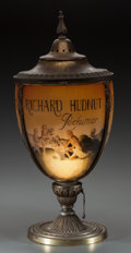 Art Glass:Other , Richard Hudnut Glass and Brass Vaporizer Lamp. Circa 1915. Ht.20-1/2 in.. ...