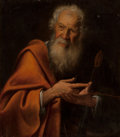 Old Master:Italian, Manner of Giuseppe Vermiglio (Italian, 18th Century). St.Paul. Oil on canvas. 30 x 26-1/2 inches (76.2 x 67.3 cm). ...