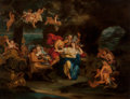 Old Master:French, After Antoine Coypel (French, 1661-1722). Bacchus and Ariadne onthe Isle of Naxos. Oil on panel. 21 x 26 inches (53.3 x...