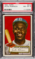 Baseball Cards:Singles (1950-1959), 1952 Topps Jackie Robinson #312 PSA NM-MT 8....