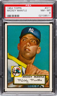 1952 Topps Mickey Mantle #311 PSA NM-MT 8 - A Stunning Example!