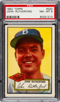 Baseball Cards:Singles (1950-1959), 1952 Topps John Rutherford #320 PSA NM-MT 8 - None Higher....