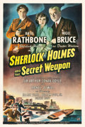 "Movie Posters:Crime, Sherlock Holmes and the Secret Weapon (Universal, 1942). One Sheet(27"" X 41"").. ..."