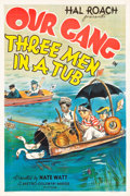 "Movie Posters:Comedy, Our Gang in Three Men in a Tub (MGM, 1938). One Sheet (27.5"" X41"").. ..."