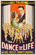 "Movie Posters:Drama, The Dance of Life (Paramount, 1929). One Sheet (27.25"" X 41"") StyleA.. ..."