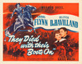 "Movie Posters:Western, They Died with Their Boots On (Warner Brothers, 1941). Half Sheet (22"" X 28"") Style B.. ..."
