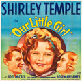 "Movie Posters:Drama, Our Little Girl (Fox, 1935). Six Sheet (80"" X 81"").. ..."