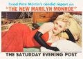 "Movie Posters:Miscellaneous, Marilyn Monroe Saturday Evening Post Magazine (Curtis Publishing,1956). Newstand Poster (28"" X 39.5"").. ..."