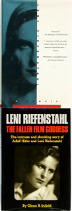 Books:Biography & Memoir, Leni Riefenstahl, subject. Pair of Biographies, One of Which isSIGNED. Various publishers and dates.... (Total: 2 Items)