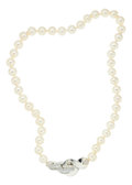 Estate Jewelry:Necklaces, Cultured Pearl, Silver Necklace, Patricia Von Musulin. ...