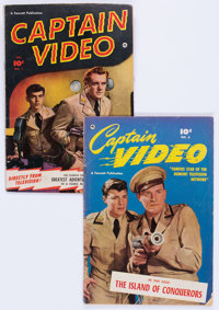 Captain Video #1 and 6 Group (Fawcett Publications, 1951).... (Total: 2 Comic Books)