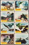 "Movie Posters:Science Fiction, Rodan! The Flying Monster (Toho/ RKO, 1957). Lobby Card Set of 8(11"" X 14"").. ... (Total: 8 Items)"