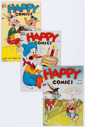 Golden Age (1938-1955):Funny Animal, Happy Comics #30, 36, and 37 Frank Frazetta Group (Standard,1949-50) Condition: Average VF-.... (Total: 3 Comic Books)