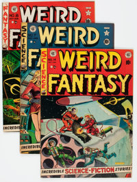 Weird Fantasy Group of 7 (EC, 1951-53) Condition: Average VG.... (Total: 7 Comic Books)