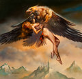 Original Comic Art:Paintings, Boris Vallejo Thiassi Abducting Idunn Painting Original Art (1987)....