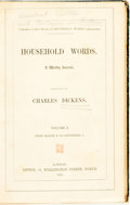 Books:Periodicals, [Charles Dickens, Bound Periodicals]. Household Words, Vols.I - III, London: Office of Household Words, 1850 - ... (Total: 4Items)