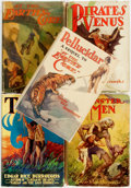 Books:Science Fiction & Fantasy, Edgar Rice Burroughs. Group of Five Later Reprint Burroughs Titles.New York: Grosset & Dunlap, [circa 1930]. . ... (Total: 5Items)