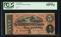 Confederate Notes:1864 Issues, Darker Red Tint T69 $5 1864.. ...