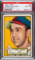 Baseball Cards:Singles (1950-1959), 1952 Topps Tommy Glaviano (Black Back) #56 PSA NM-MT 8 - Only OneHigher....