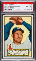 Baseball Cards:Singles (1950-1959), 1952 Topps Ray Scarborough (Black Back) #43 PSA NM-MT 8....