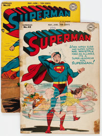 Superman #40 and 52 Group (DC, 1946-48) Condition: Average GD-.... (Total: 2 Comic Books)