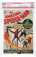 Silver Age (1956-1969):Superhero, The Amazing Spider-Man #1 Stan Lee Verified Signature (Marvel, 1963) CBCS Restored VG 4.0 Moderate/ Extensive White pages....