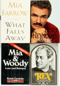 Books:Biography & Memoir, [Biography]. Group of Four Show Business Biographies or Memoirs,Two SIGNED. Various publishers and dates. . ... (Total: 4 Items)