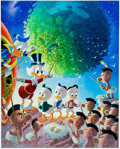 Memorabilia:Disney, Carl Barks An Astronomical Predicament Signed Limited Edition Lithograph Print #230/345 (Another Rainbow, 1990).... (Total: 2 Items)