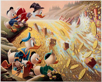 Carl Barks Dam Disaster at Money Lake Signed Limited Edition Lithograph Print #204/345 (Another Rainbow, 1986).... (Tota...