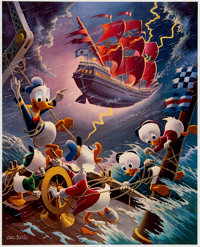 Carl Barks Afoul of the Flying Dutchman Signed Limited Edition Lithograph Print #215/345 (Another Rainbow, 1985).... (To...