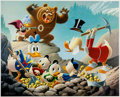 Memorabilia:Disney, Carl Barks Trespassers Will Be Ventilated Signed Limited Edition Lithograph Print #217/345 (Another Rainbow, 1987)... (Total: 2 Items)