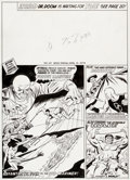 Original Comic Art:Covers, Dick Ayers The Mighty World of Marvel #29 Cover Original Art(Marvel UK, 1972)....