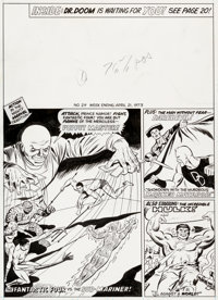 Dick Ayers The Mighty World of Marvel #29 Cover Original Art (Marvel UK, 1972)
