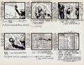 Animation Art:Production Drawing, Alex Toth Super Friends Animation Storyboard(Hannah-Barbera, c. 1970s)....