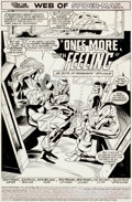 "Original Comic Art:Splash Pages, Alex Saviuk and Keith Williams Web of Spider-Man #64 ""OnceMore, With Feeling"" Splash Page 1 Original Art (Marvel,..."