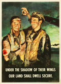 """Movie Posters:War, World War II Propaganda (General Cable Corporation, 1944). Poster(27"""" X 37"""") """"Under the Shadow of Their Wings."""". ..."""