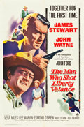 """Movie Posters:Western, The Man Who Shot Liberty Valance (Paramount, 1962). One Sheet (27"""" X 41"""").. ..."""