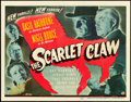 "Movie Posters:Mystery, The Scarlet Claw (Universal, 1944). Title Lobby Card (11"" X 14"")....."