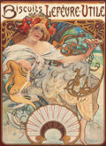 Decorative Prints, European, Alphonse Mucha (Czechoslovakian, 1860-1939). BiscuitsLefevre-Utile, 1897. Color poster. 23-3/8 x 16-3/4 inches (59.4x ... (Total: 2 Items)