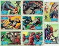 "Miscellaneous:Trading Cards, [Trading Cards, Batman]. Group of Eight Topps ""Blue Bat"" Batman Cards. National Periodical Publications, 1966...."