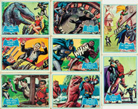 "[Trading Cards, Batman]. Group of Eight Topps ""Blue Bat"" Batman Cards. National Periodical Publications, 1966..."