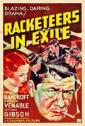 "Movie Posters:Crime, Racketeers in Exile (Columbia, 1937). One Sheet (27"" X 41"") StyleA.. ..."