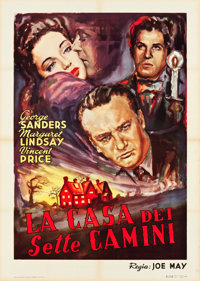 "The House of the Seven Gables (Universal, 1940). First Post-War Release Italian 2 - Foglio (39"" X 55""). Thrill..."