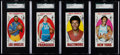 Basketball Cards:Lots, 1969 Topps Basketball SGC Graded HoFers Collection (4)....